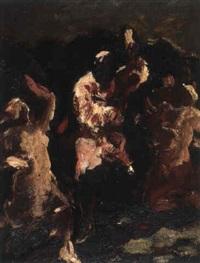tanzende figuren [verso: kohlezeichung zum  selben thema] by heinrich altherr